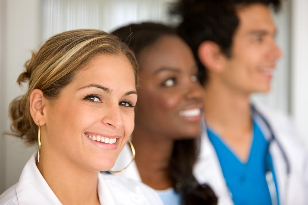Image of a three nurses smiling