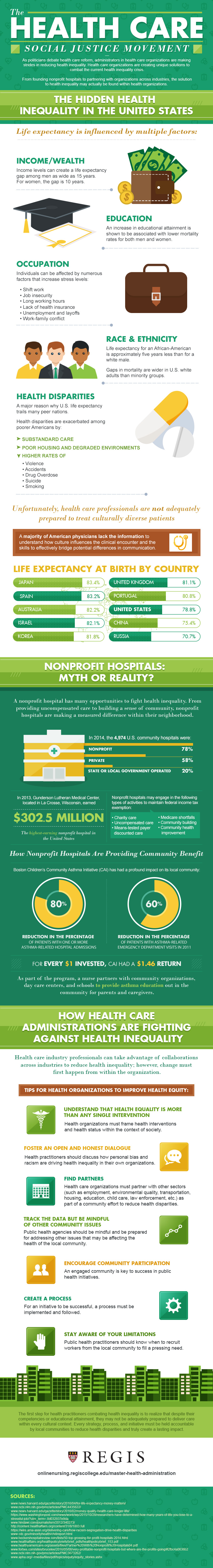 Healthcare Social Justice Movement Infographic